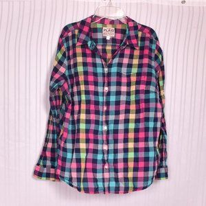 Old Navy Ladies Plaid Shirt